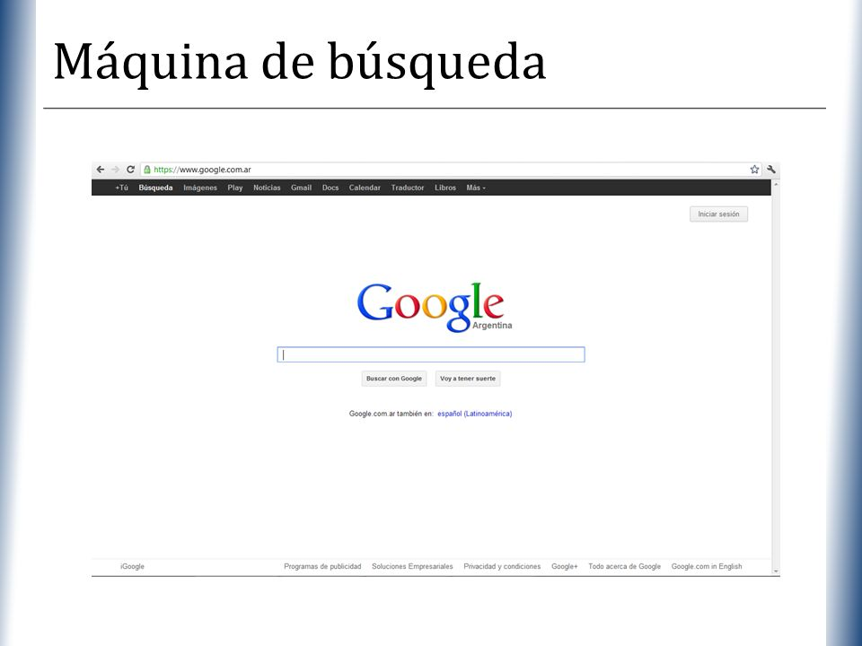 XP Máquina de búsqueda