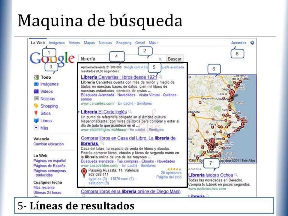 XP Maquina de búsqueda 5- Líneas de resultados