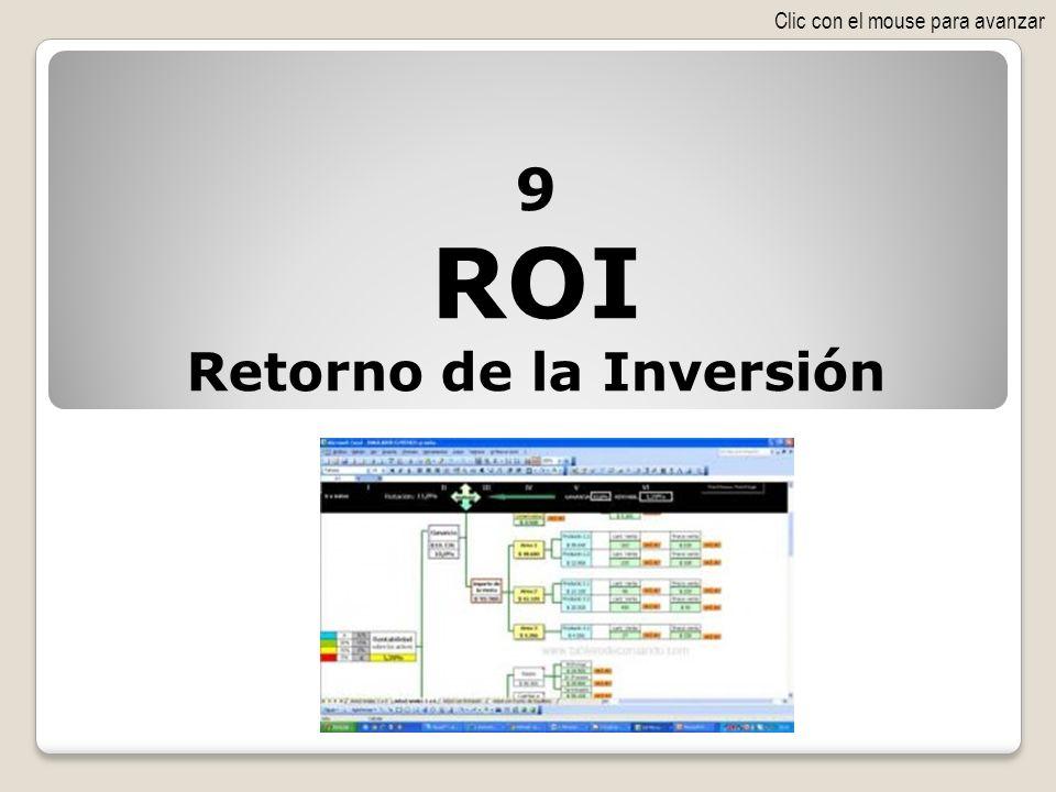 9 ROI Retorno de la Inversión Clic con el mouse para avanzar