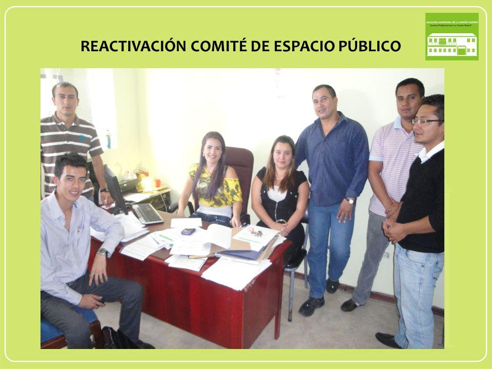 REACTIVACIÓN COMITÉ DE ESPACIO PÚBLICO
