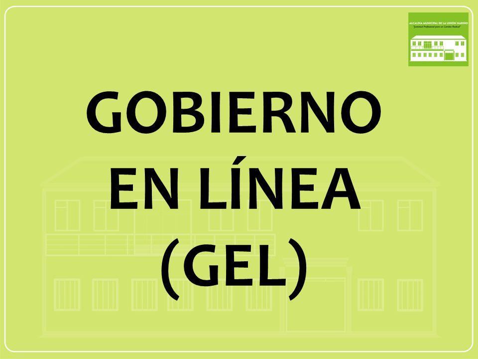 GOBIERNO EN LÍNEA (GEL)