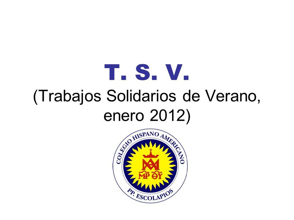 T. S. V. (Trabajos Solidarios de Verano, enero 2012)