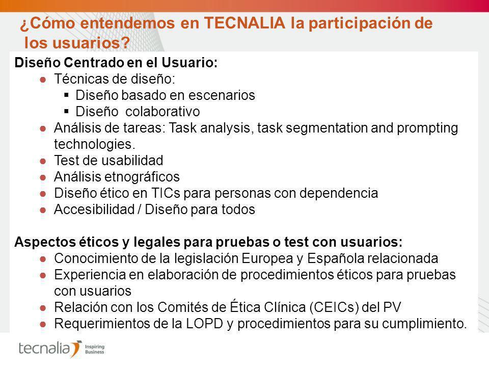¿Cómo entendemos en TECNALIA la participación de los usuarios.