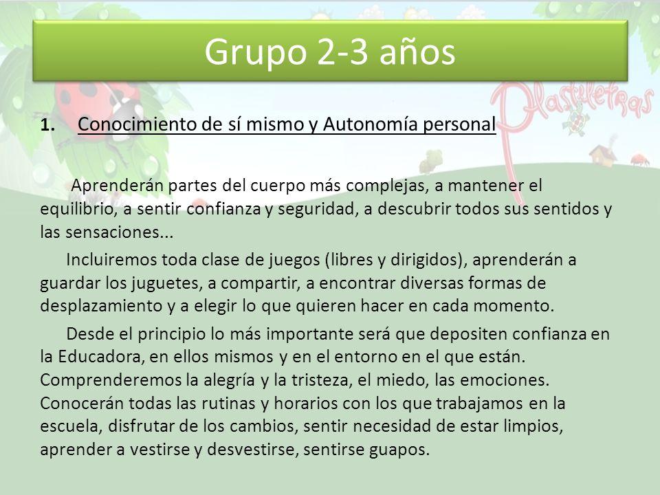 Grupo 2-3 años 1.