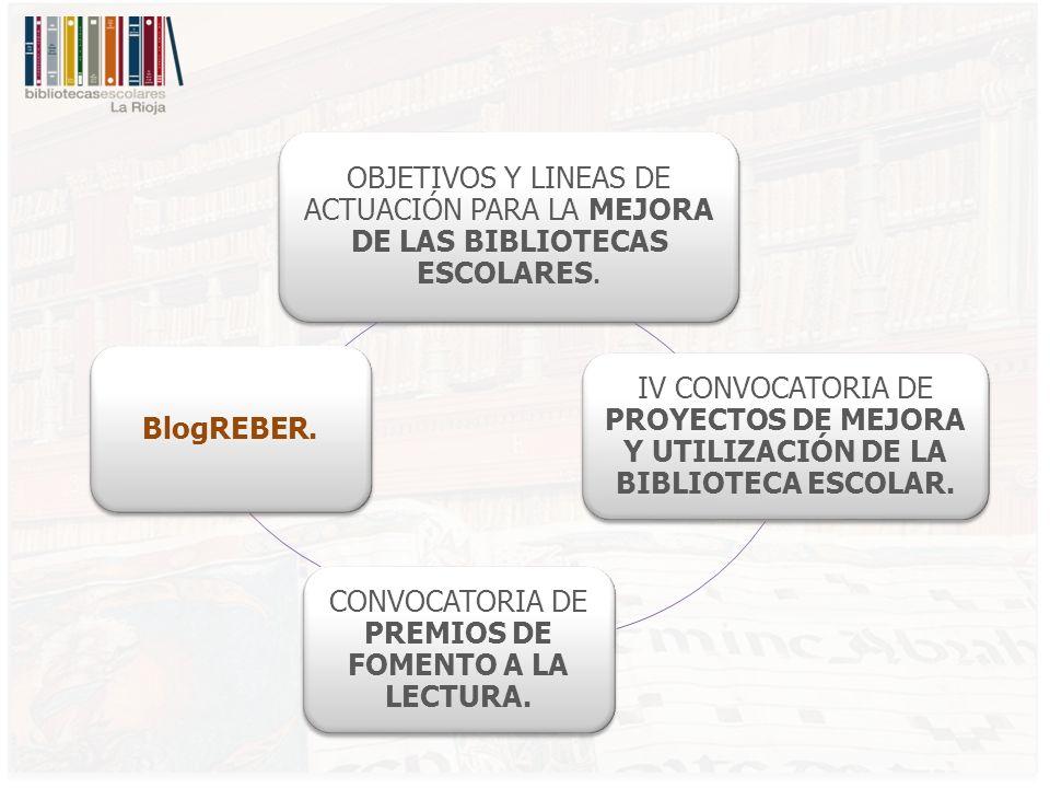 OBJETIVOS Y LINEAS DE ACTUACIÓN PARA LA MEJORA DE LAS BIBLIOTECAS ESCOLARES.