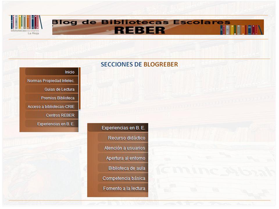 SECCIONES DE BLOGREBER