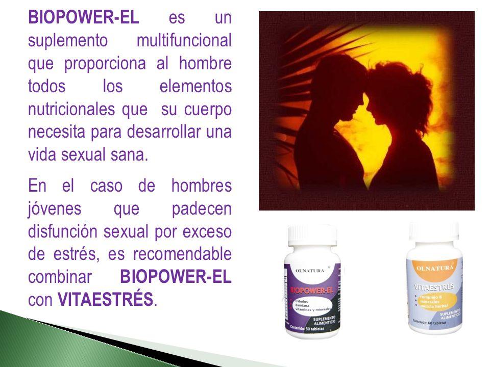 BIOPOWER-EL es un suplemento multifuncional que proporciona al hombre todos los elementos nutricionales que su cuerpo necesita para desarrollar una vi