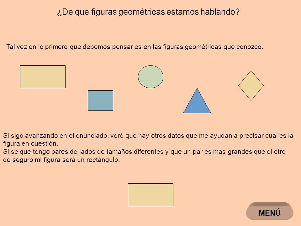 ¿De que figuras geométricas estamos hablando.