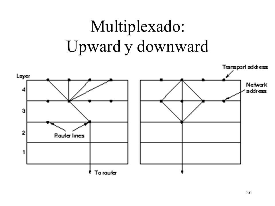 26 Multiplexado: Upward y downward