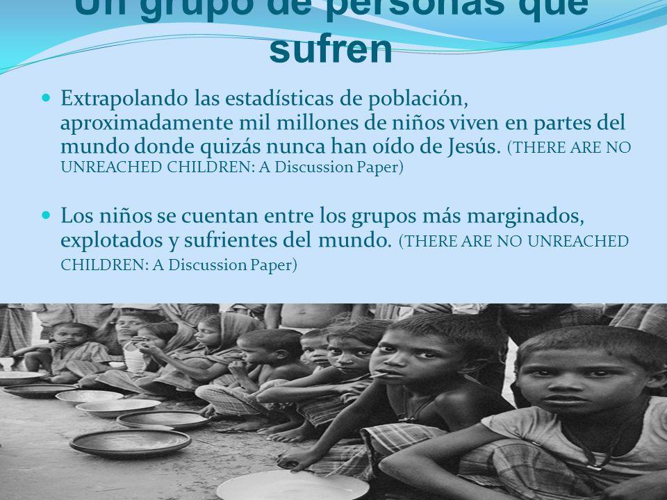 Un grupo de personas que sufren Extrapolando las estadísticas de población, aproximadamente mil millones de niños viven en partes del mundo donde quiz