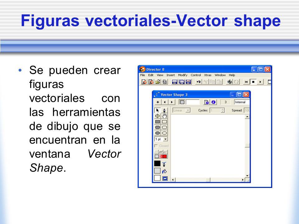 Figuras vectoriales-Vector shape Se pueden crear figuras vectoriales con las herramientas de dibujo que se encuentran en la ventana Vector Shape.