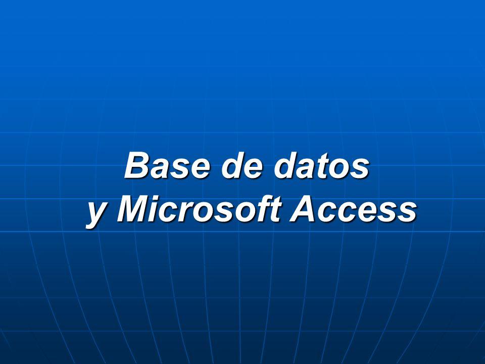 Base de datos Es un conjunto de datos que pertenecen al mismo contexto almacenados sistemáticamente para su posterior uso.