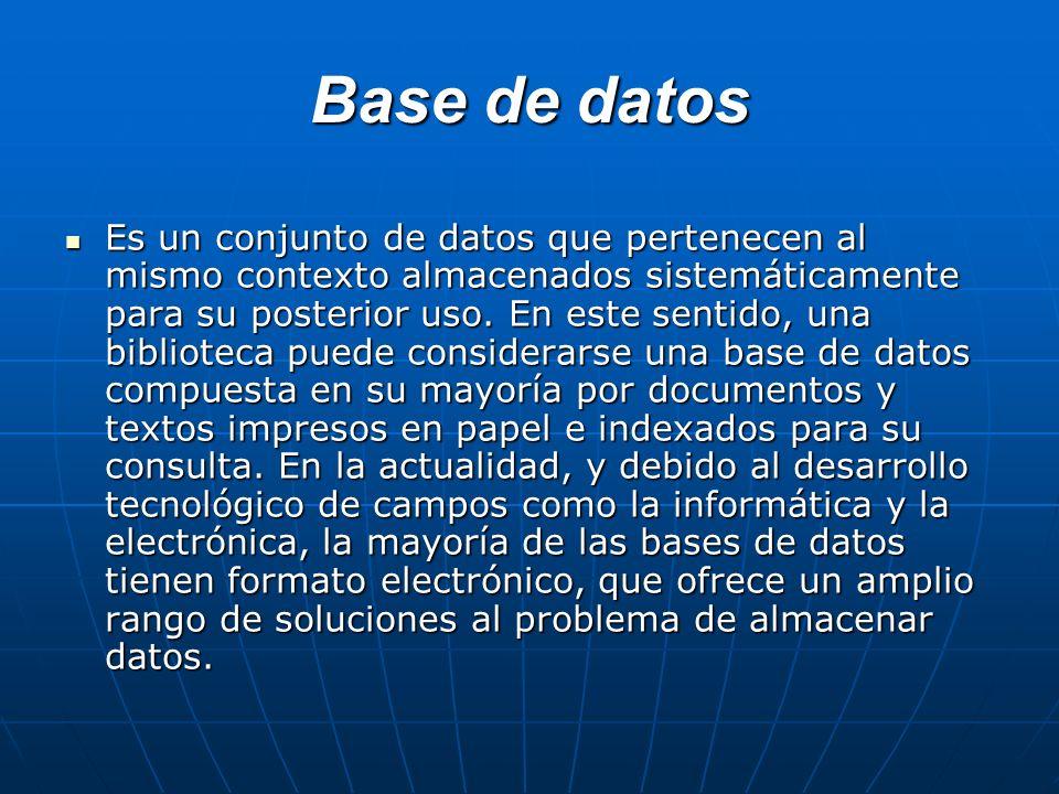 Microsoft Access Microsoft Access es un programa Sistema de gestión de base de datos relacional creado y modificado por Microsoft para uso personal de pequeñas organizaciones.