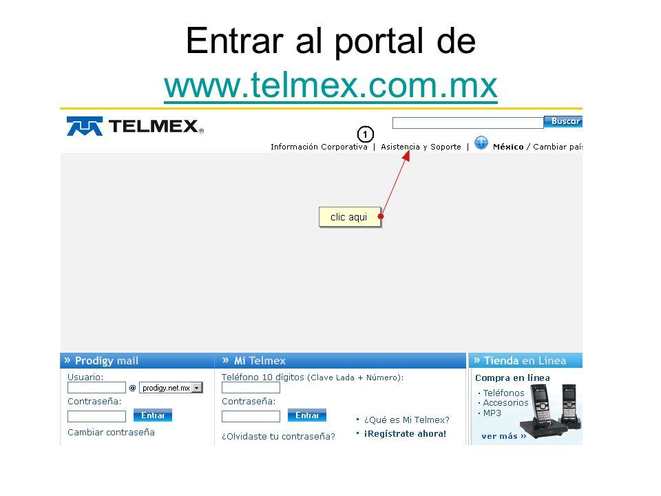 Entrar al portal de www.telmex.com.mx www.telmex.com.mx