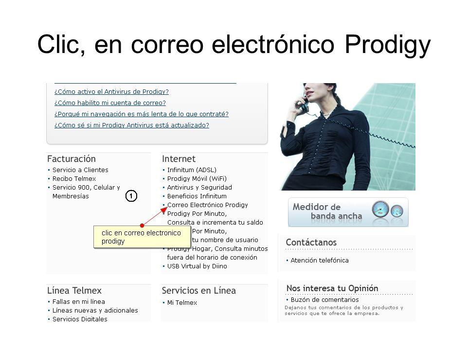 Clic, en correo electrónico Prodigy