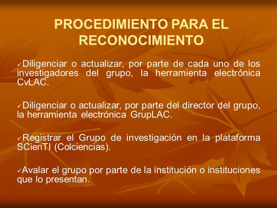 GRUPOS DE INVESTIGACIÓN CATREGORIA A Fuente: Plataforma Scienti y SPDCyT Colciencias. 2005