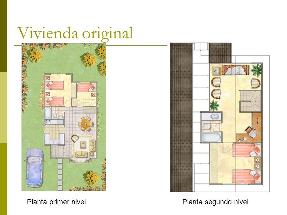 Vivienda original Planta primer nivelPlanta segundo nivel
