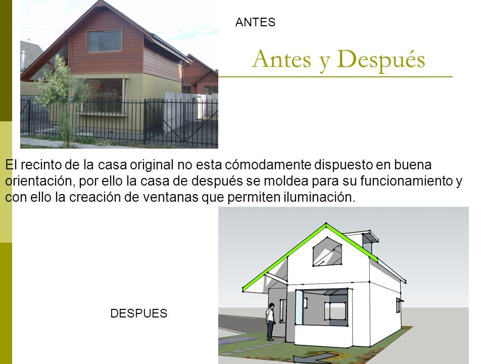 Confrontación de vivienda original y propuesta.
