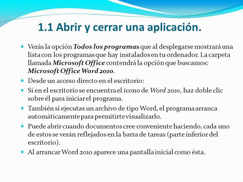 1.4 Alternar entre documentos abiertos.