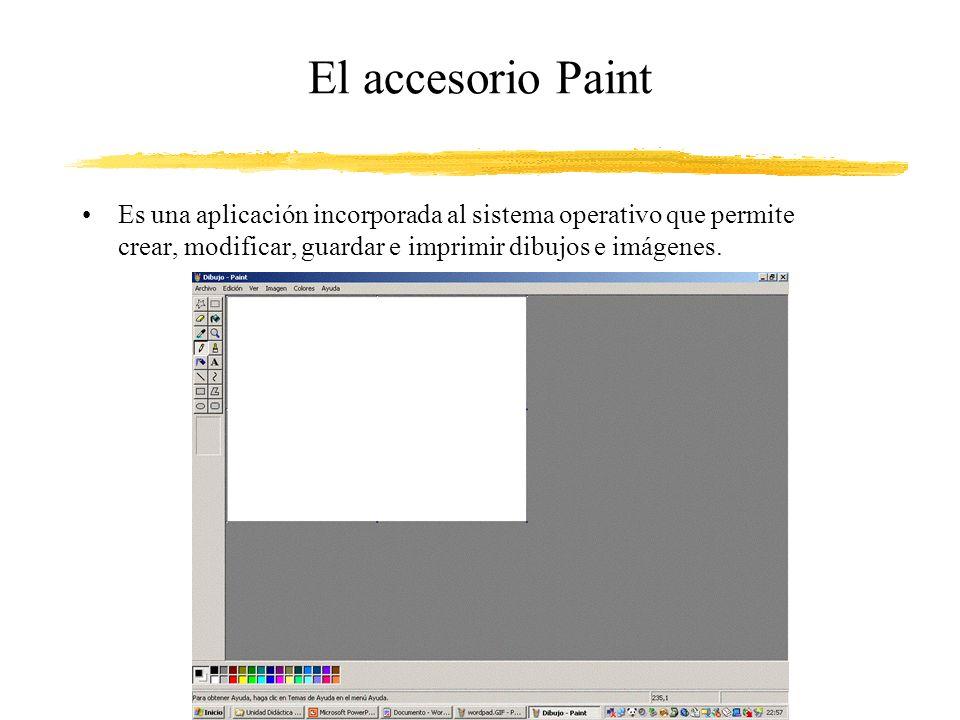 El accesorio Paint Es una aplicación incorporada al sistema operativo que permite crear, modificar, guardar e imprimir dibujos e imágenes.