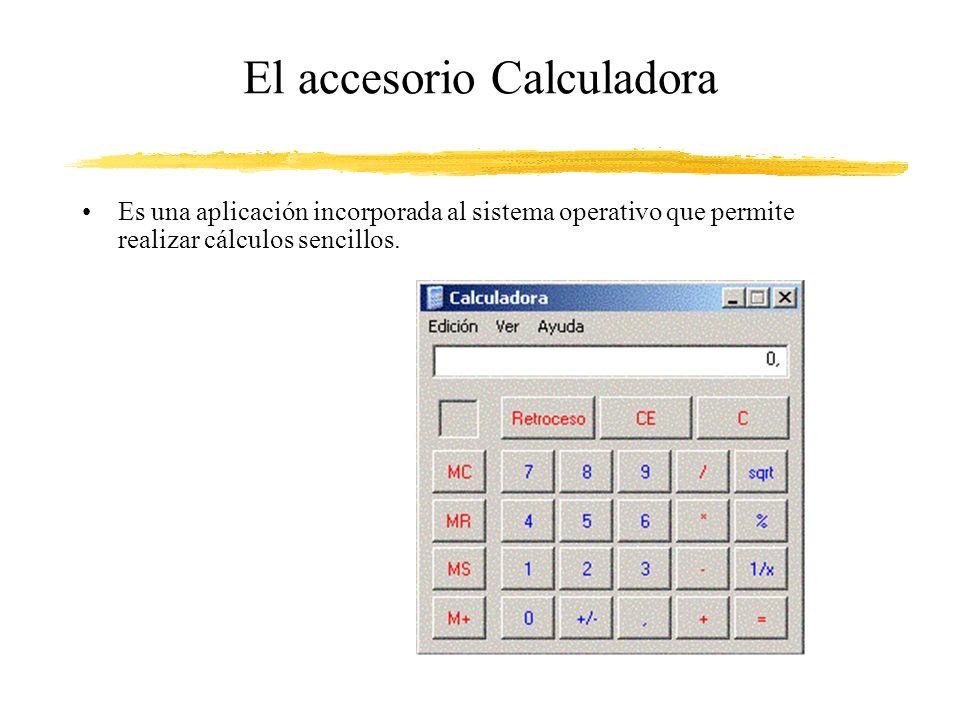 El accesorio Calculadora Es una aplicación incorporada al sistema operativo que permite realizar cálculos sencillos.