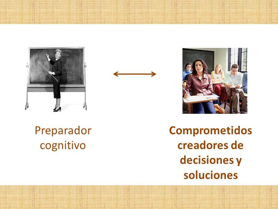 Comprometidos creadores de decisiones y soluciones Preparador cognitivo