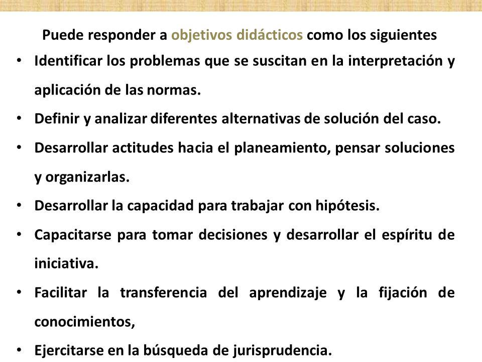 Identificar los problemas que se suscitan en la interpretación y aplicación de las normas. Definir y analizar diferentes alternativas de solución del