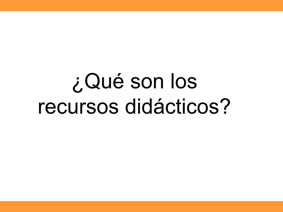 ¿Qué son los recursos didácticos?