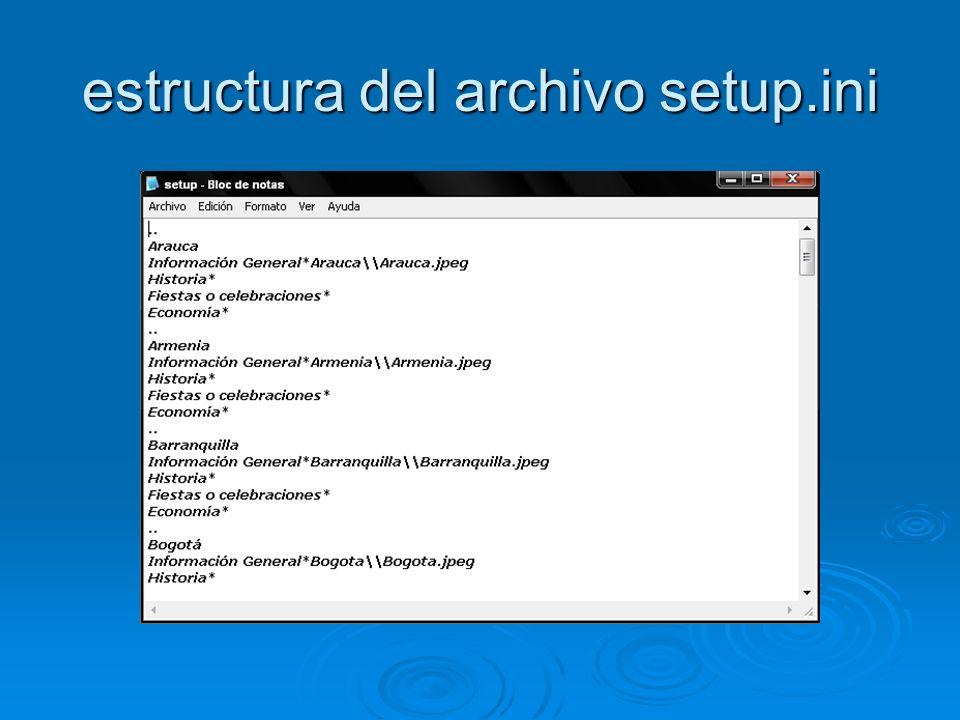 estructura del archivo ejecuta.txt