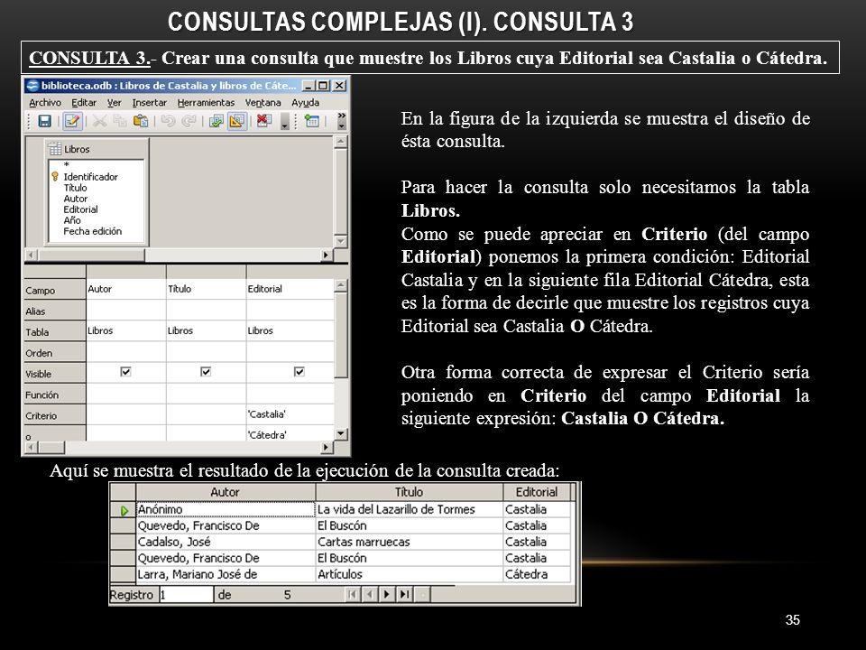 CONSULTAS COMPLEJAS (I).