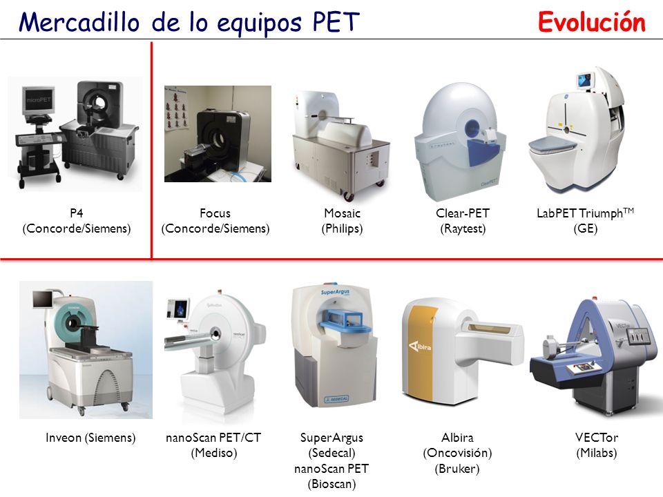 LabPET Triumph TM (GE) Inveon (Siemens)SuperArgus (Sedecal) nanoScan PET (Bioscan) VECTor (Milabs) Albira (Oncovisión) (Bruker) Mercadillo de lo equip