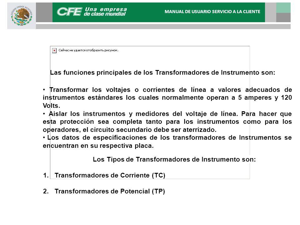 Las funciones principales de los Transformadores de Instrumento son: Transformar los voltajes o corrientes de línea a valores adecuados de instrumento
