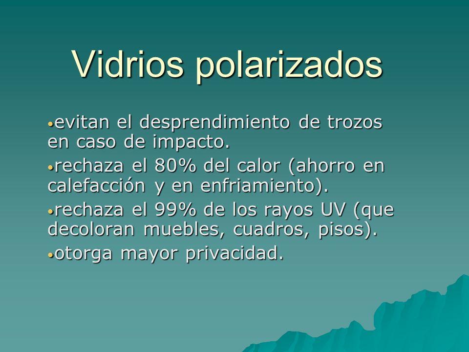 Vidrios polarizados evitan el desprendimiento de trozos en caso de impacto.