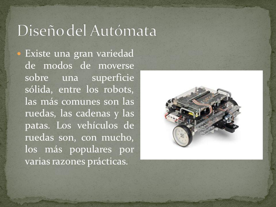 Existe una gran variedad de modos de moverse sobre una superficie sólida, entre los robots, las más comunes son las ruedas, las cadenas y las patas. L