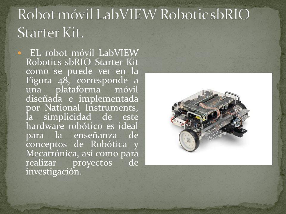 EL robot móvil LabVIEW Robotics sbRIO Starter Kit como se puede ver en la Figura 48, corresponde a una plataforma móvil diseñada e implementada por Na