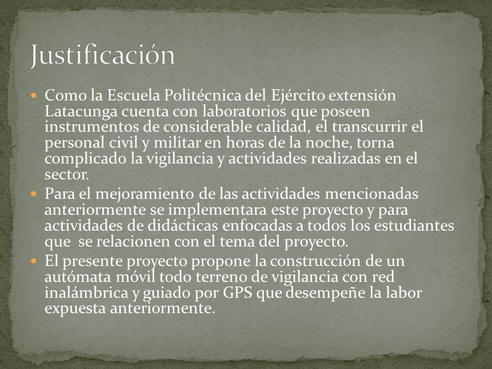 Como la Escuela Politécnica del Ejército extensión Latacunga cuenta con laboratorios que poseen instrumentos de considerable calidad, el transcurrir e