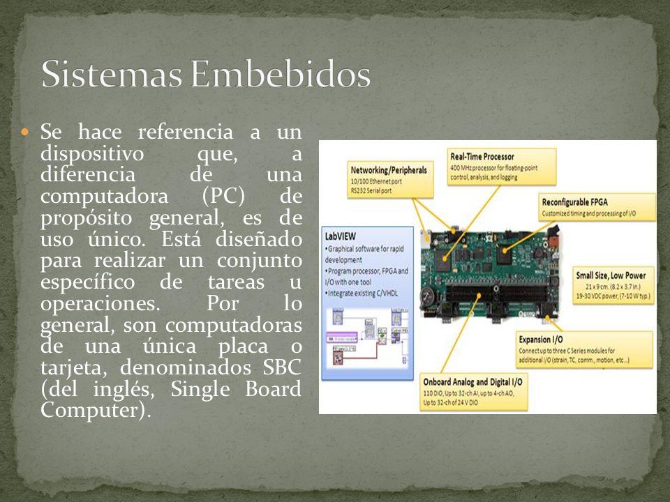 Se hace referencia a un dispositivo que, a diferencia de una computadora (PC) de propósito general, es de uso único. Está diseñado para realizar un co
