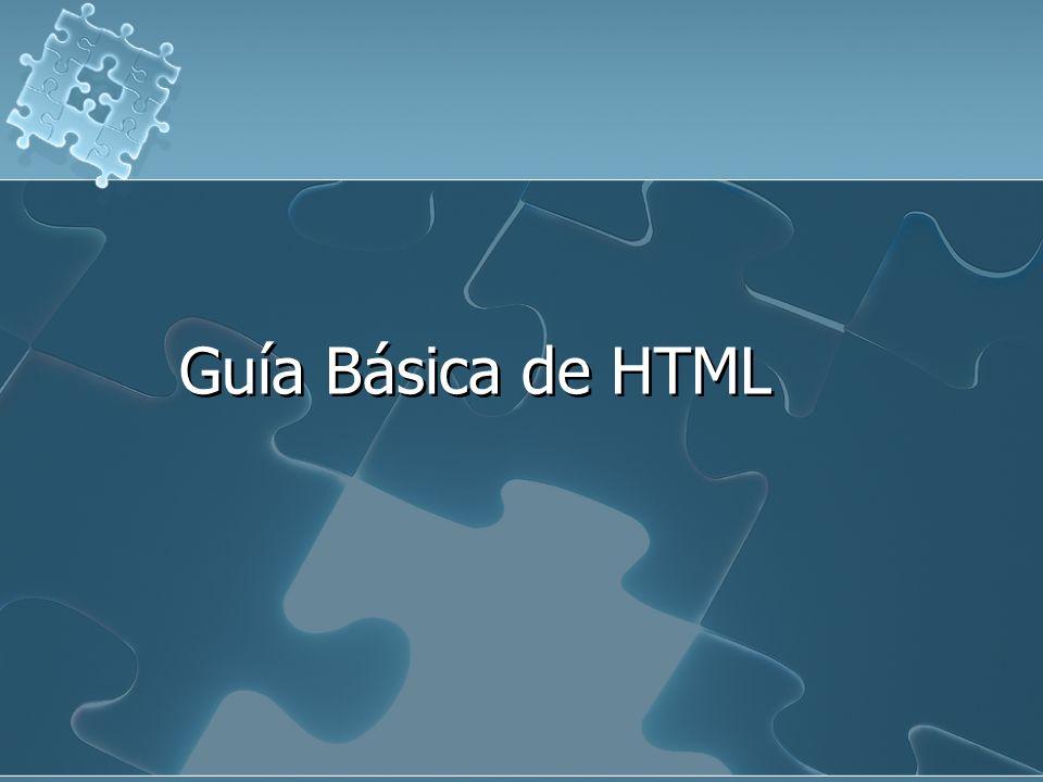 Guía Básica de HTML