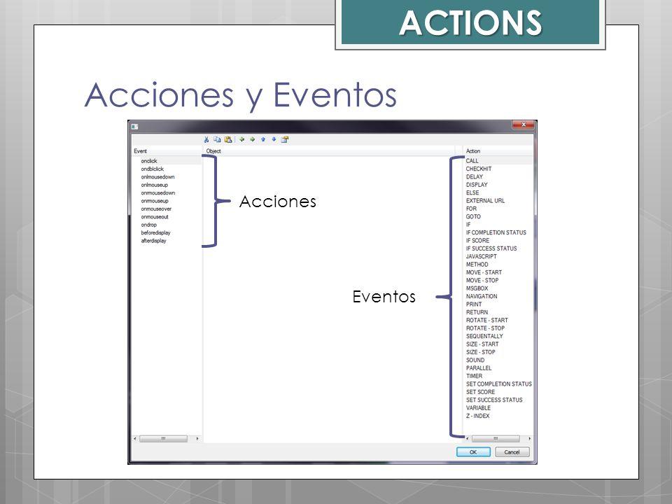 ACTIONS Acciones Eventos