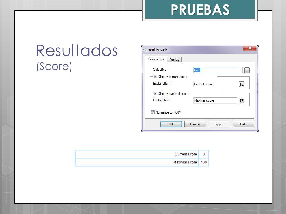 Resultados (Score) PRUEBAS