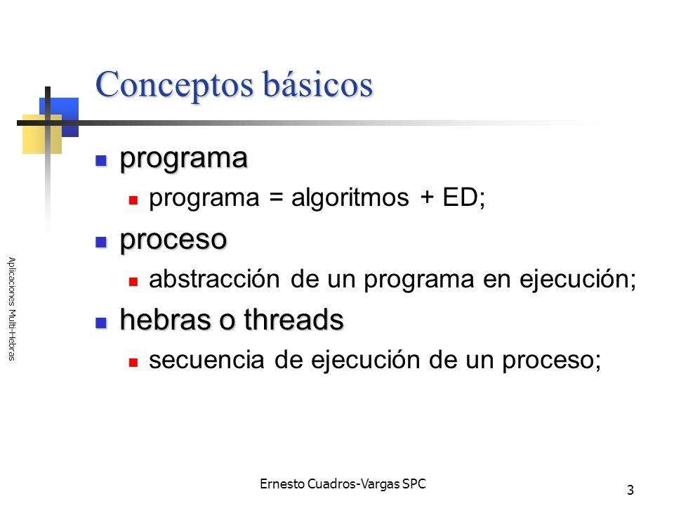 Ernesto Cuadros-Vargas SPC Aplicaciones Multi-Hebras 44 Crear la hebra hija void CMainFrame::OnNuevaThread() { // TODO: Add your command handler code here CRuntimeClass *pRuntimeClass = RUNTIME_CLASS(CMyThread); CMyThread *pMyThread = (CMyThread *)pRuntimeClass->CreateObject(); pMyThread->CreateThread(); }