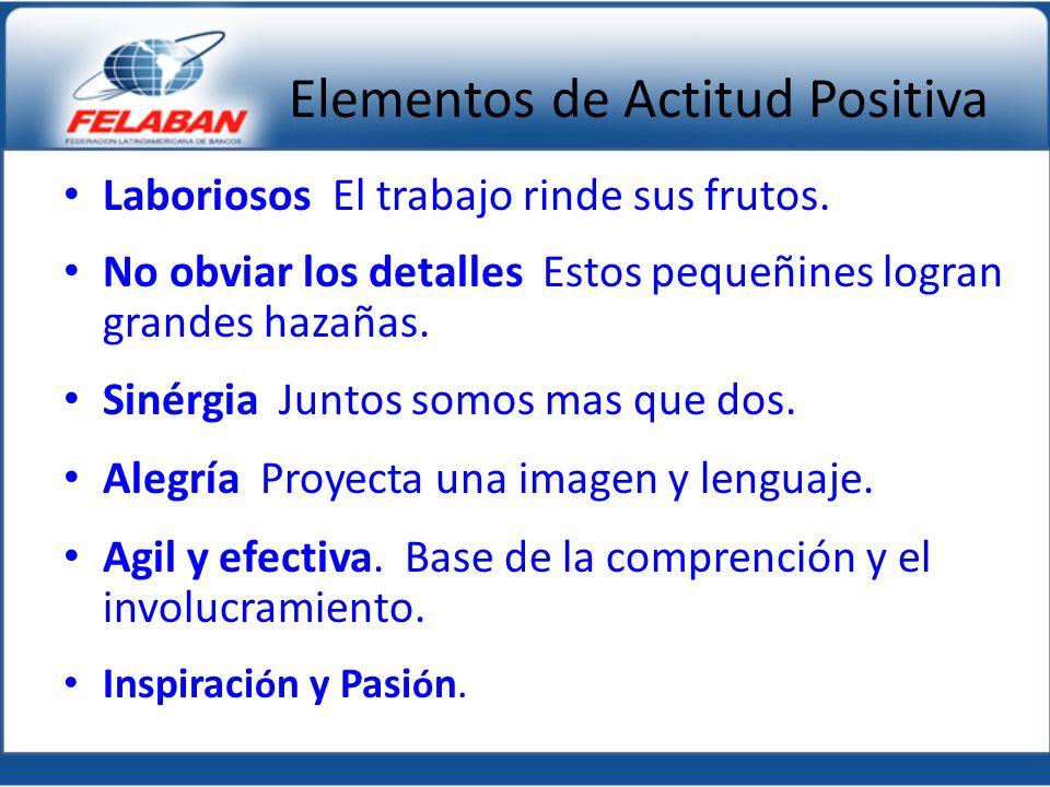 Elementos de Actitud Positiva Laboriosos El trabajo rinde sus frutos.