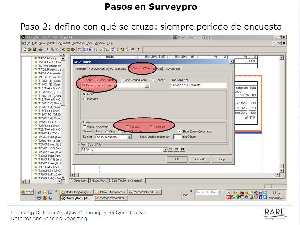Preparing Data for Analysis- Preparing your Quantitative Data for Analysis and Reporting Donde irán los resultados de los análisis de objetivos SMART.