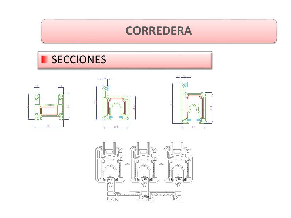 CORREDERA SECCIONES
