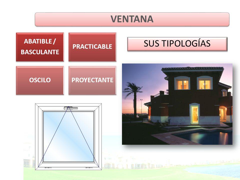 SUS TIPOLOGÍAS VENTANA ABATIBLE / BASCULANTE PRACTICABLE OSCILOPROYECTANTE