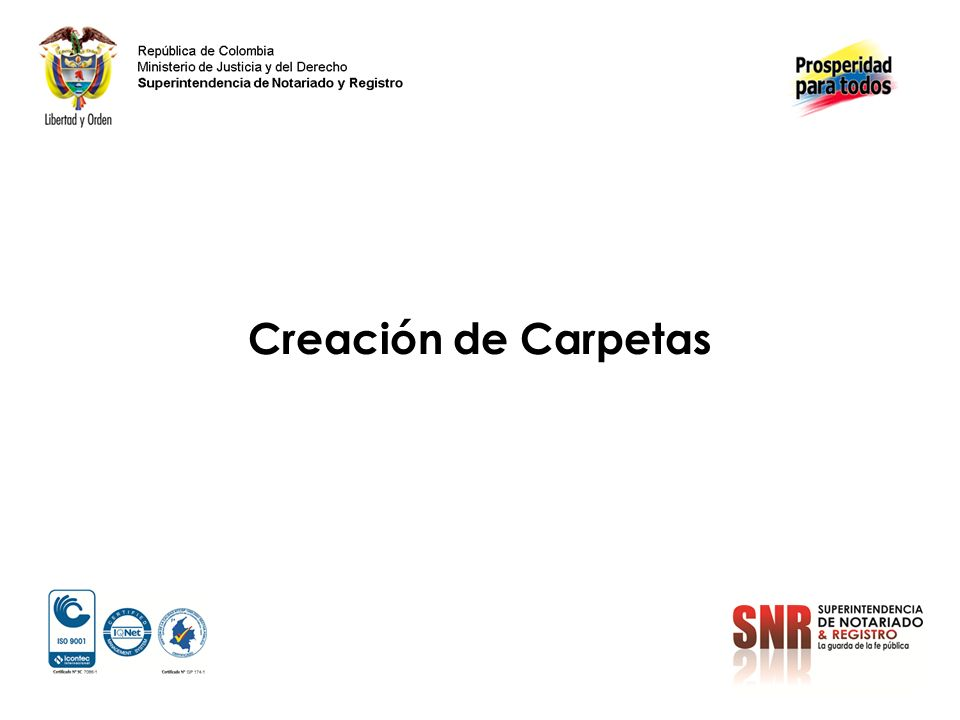 Creación de Carpetas