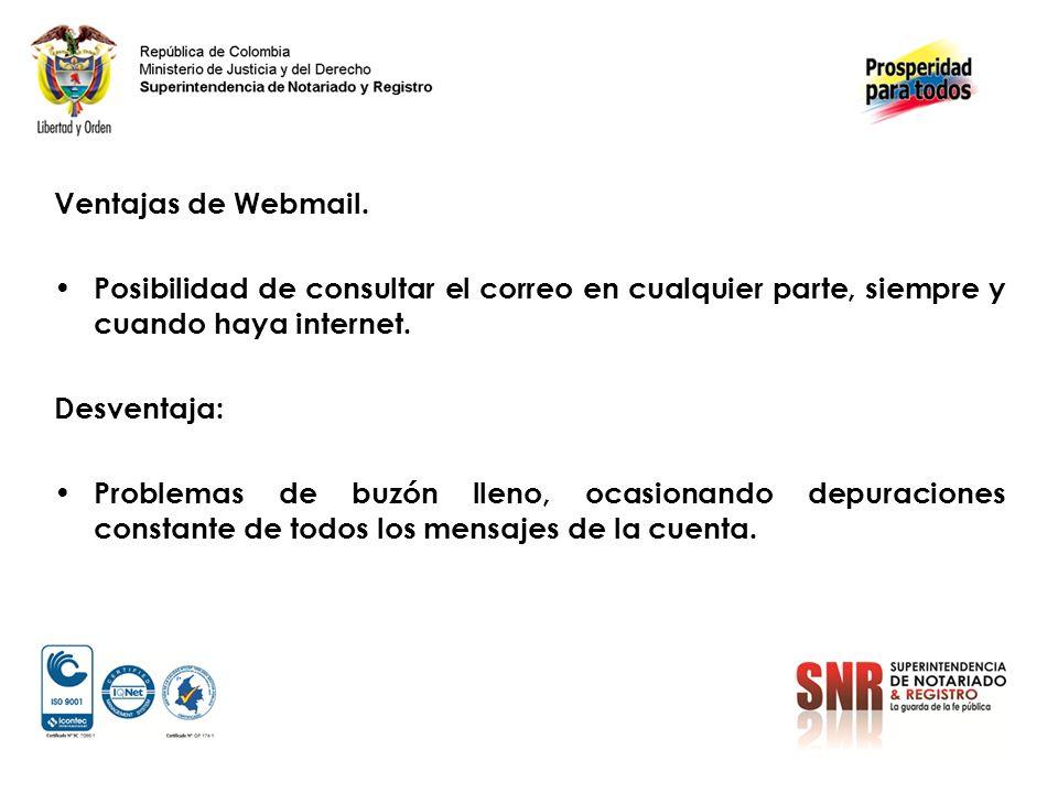 Ventajas de Webmail.
