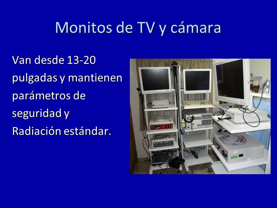 Monitos de TV y cámara Van desde 13-20 pulgadas y mantienen parámetros de seguridad y Radiación estándar.