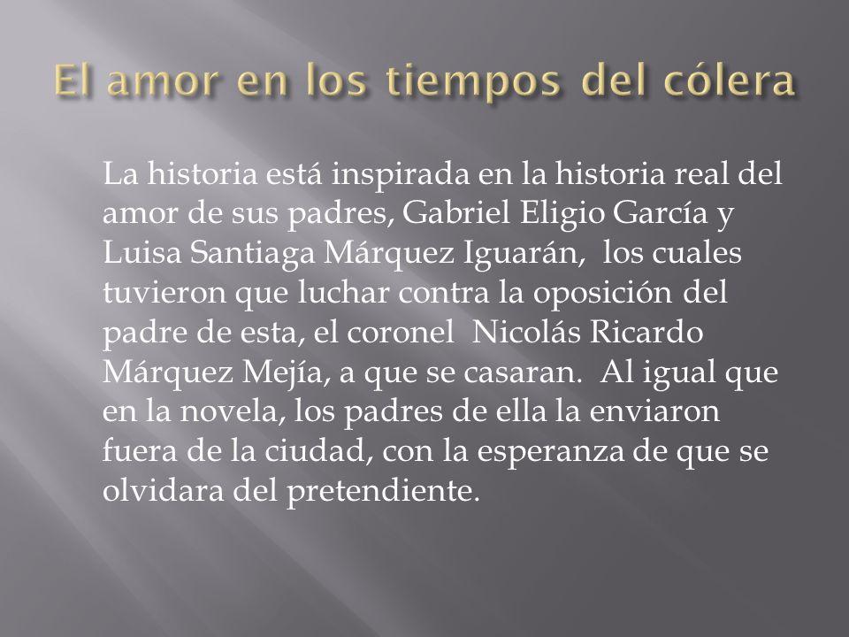 La historia está inspirada en la historia real del amor de sus padres, Gabriel Eligio García y Luisa Santiaga Márquez Iguarán, los cuales tuvieron que