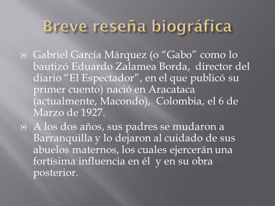Gabriel García Márquez (o Gabo como lo bautizó Eduardo Zalamea Borda, director del diario El Espectador, en el que publicó su primer cuento) nació en